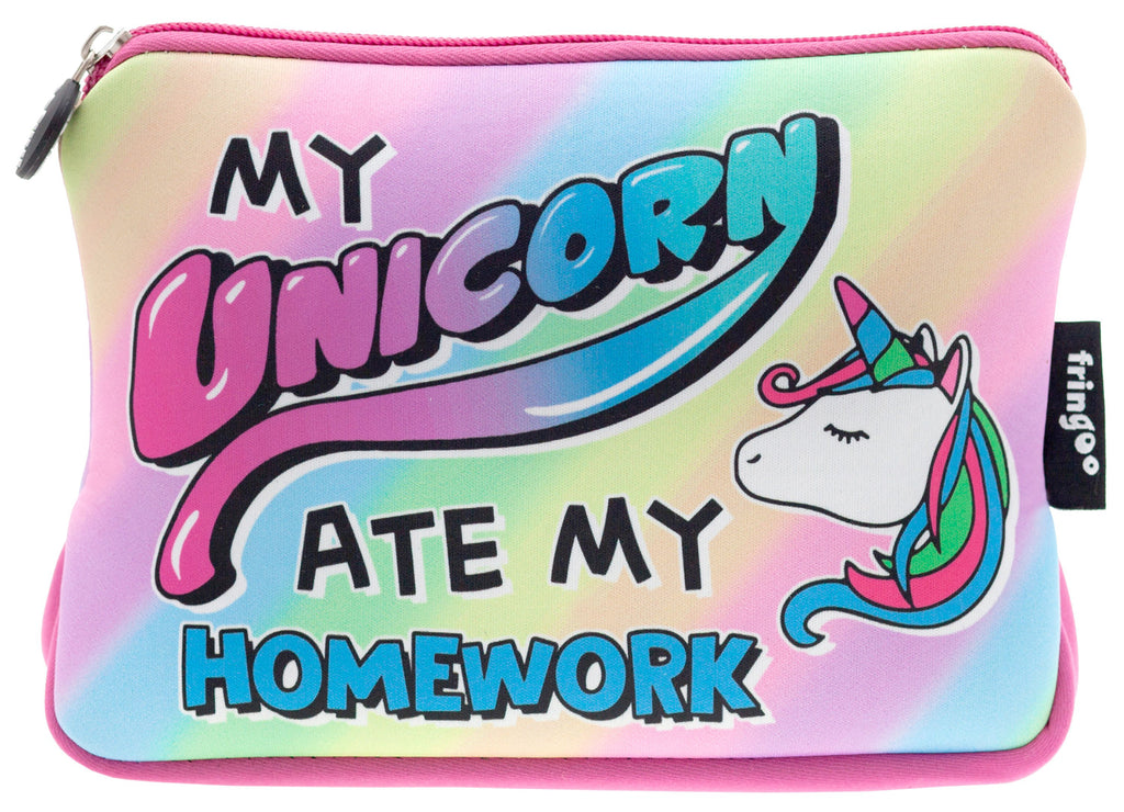 Large Printed Pencil Case - Unicorn Ate