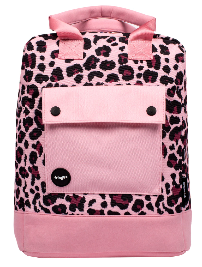 Leopard Teen Backpack Front
