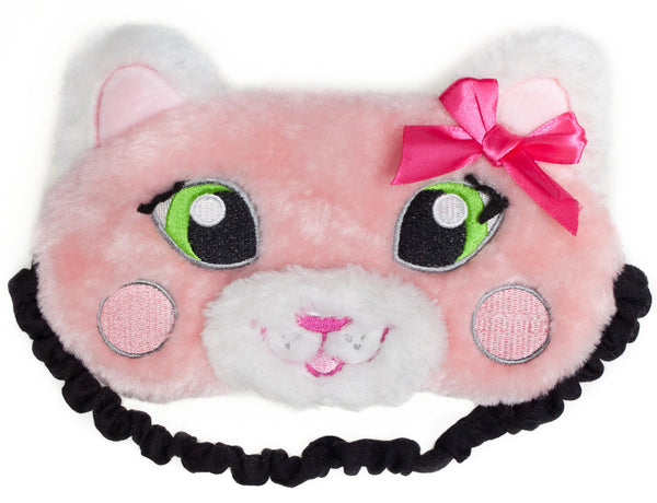 Sleeping Mask - Pink Cat