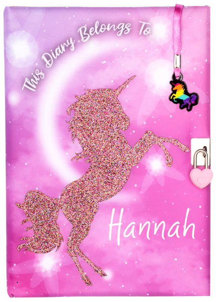 Personalised Notebook - Glitter Unicorn