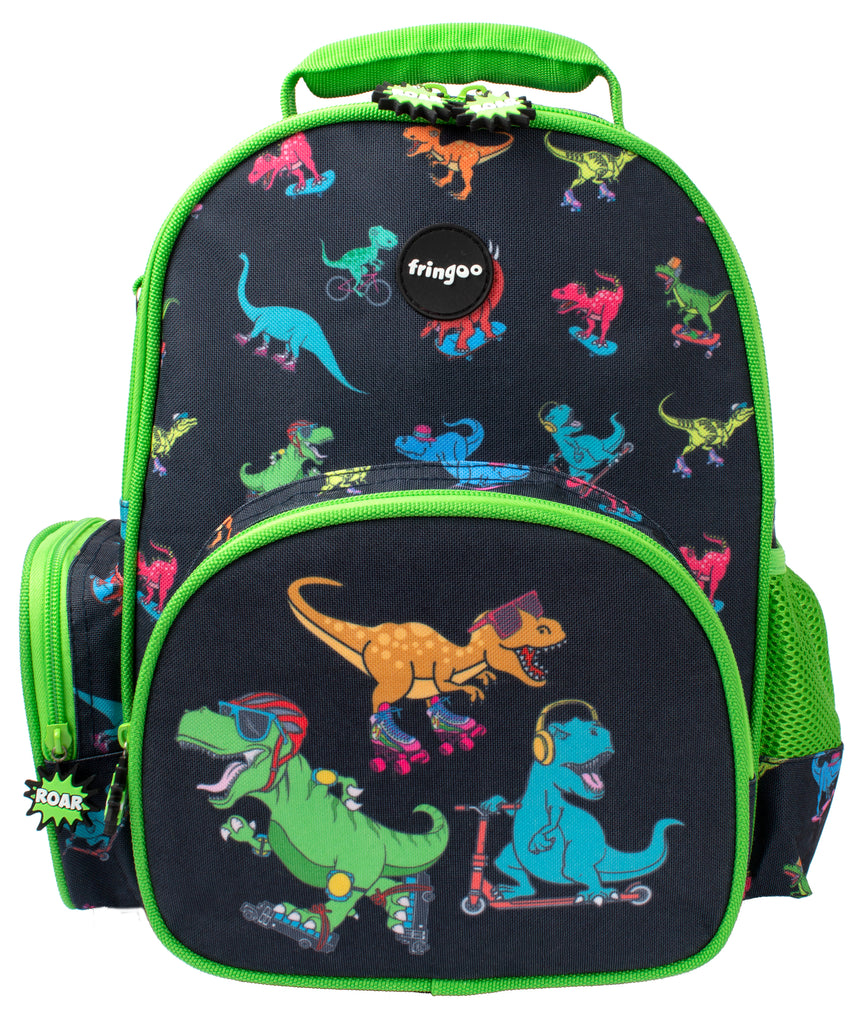 Toddler Backpack - Dinosaurs Skaters