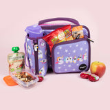 Square Lunch Bag - Smile Purple