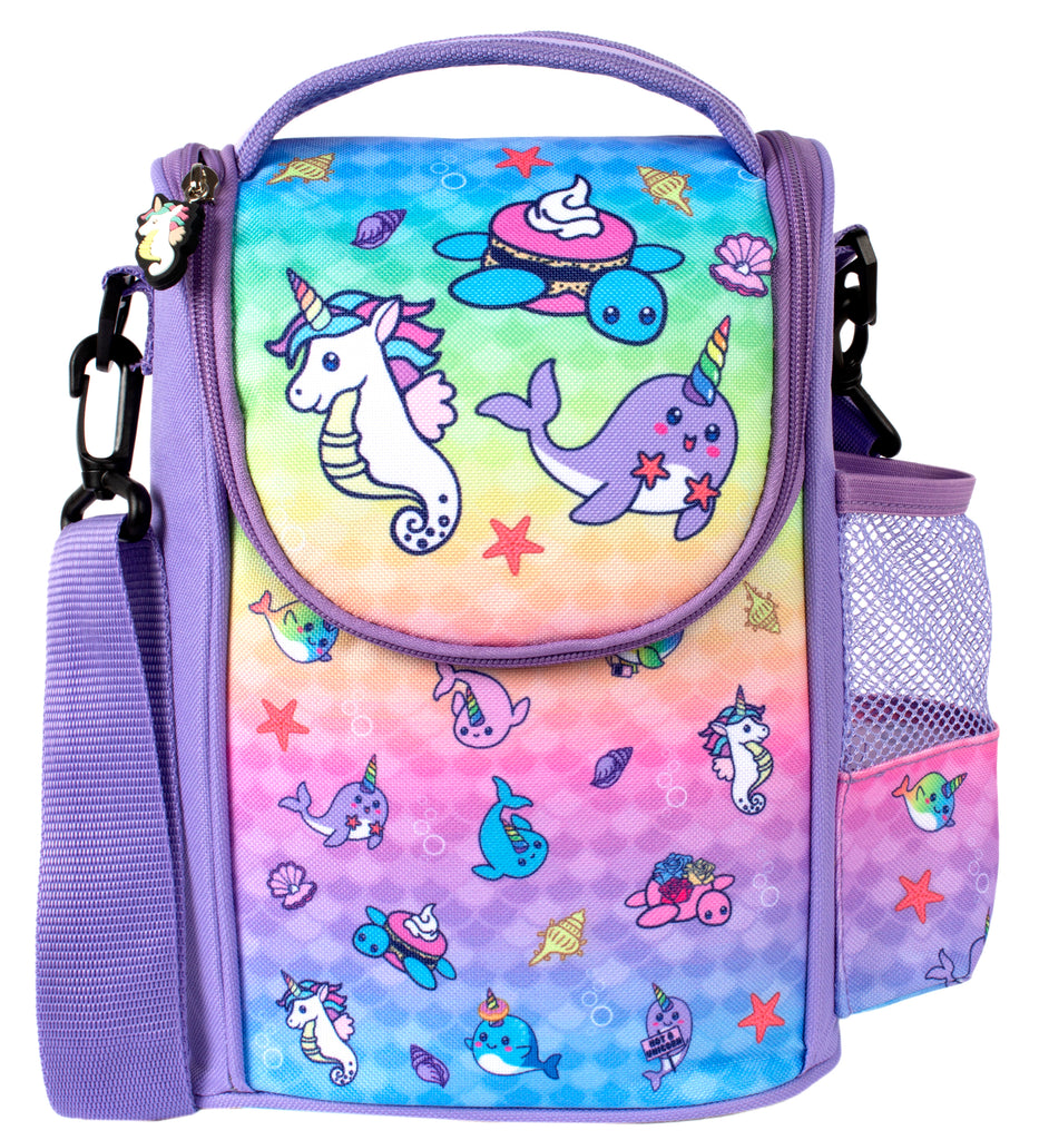 Strap Lunch Bags - Narwhal & Seahorse