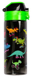 Straw Water bottle - Dinosaurs Skaters