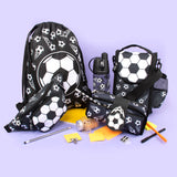 Strap Lunch Bags - Football Black