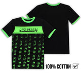 Minecraft Creeper T Shirt - Black & Green