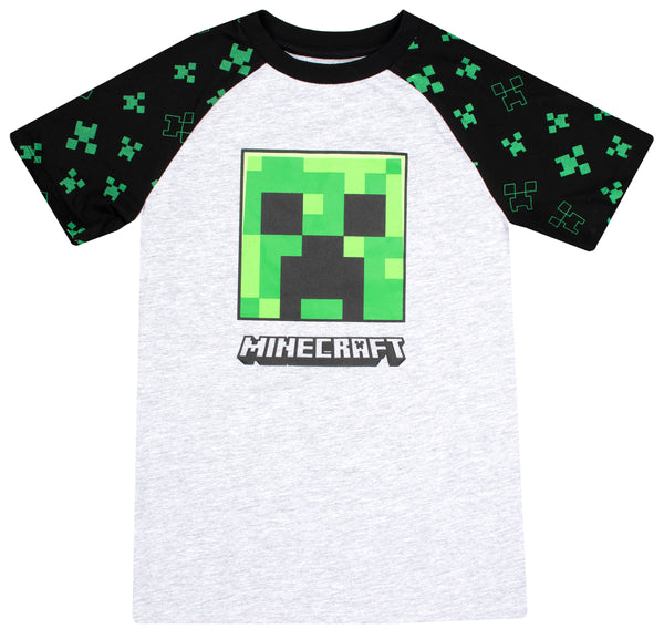 Minecraft Creeper T Shirt - Grey