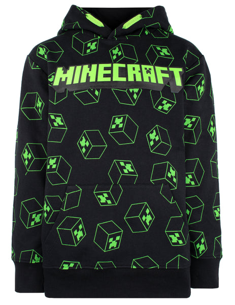 Minecraft Green Creeper Hoodie - Black