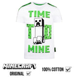 Minecraft 'Time to Mine' T Shirt - White