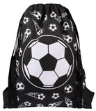 Drawstring Bags - Football Black