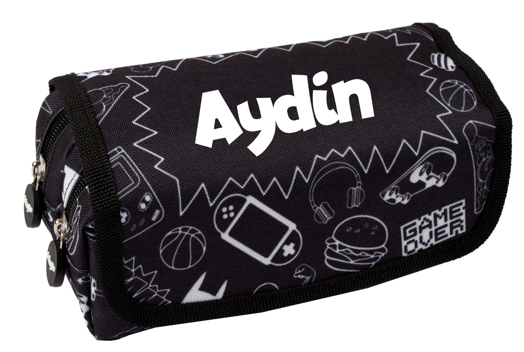 Personalised Pencil Case - Monochrome Boy