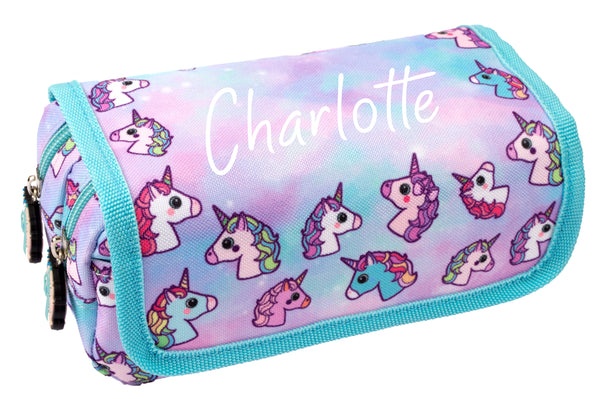 Personalised Pencil Case - Pastel Unicorns