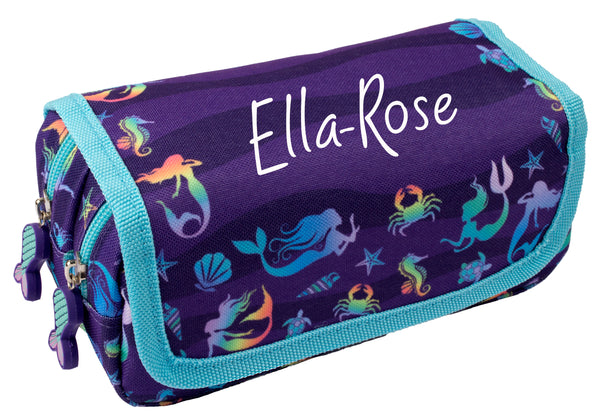 Personalised Pencil Case - Purple Mermaids