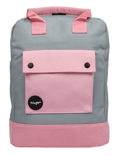 Pink and Grey Teen Backpack Front