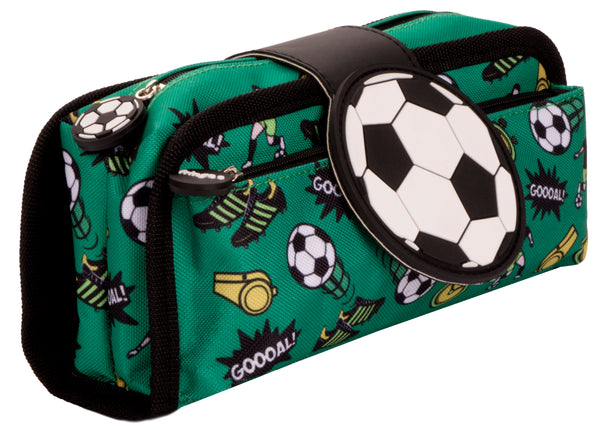 Silicone Patch Football Pencil Case