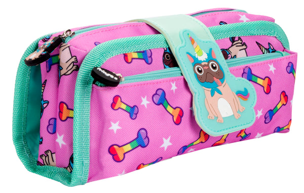 Silicone Patch Pugicorn Pencil Case