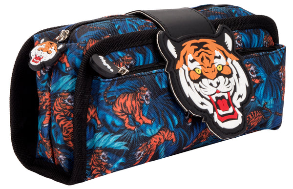 Silicone Patch Tiger Pencil Case
