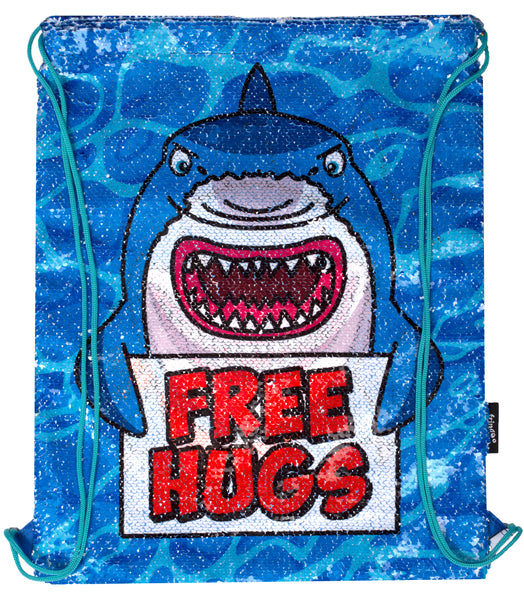 Sequin Drawstring Backpack - Shark's Hug