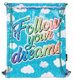 Sequin Drawstring Backpack - Follow Your Dreams