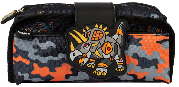 Silicone Patch Pencil Cases 2 - Dinosaur Robot