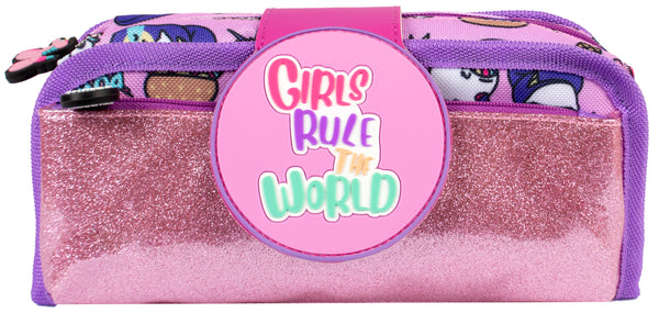 Silicone Patch Pencil Cases 2 - Girls Rule