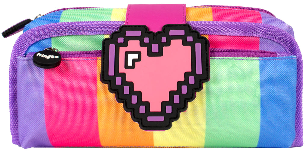 Silicone Patch Pencil Cases 2 - Pixel Heart