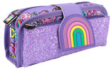 Silicone Patch Pencil Cases 2 - Rainbow Smile