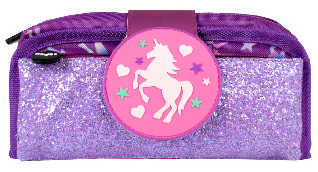 Silicone Patch Pencil Cases 2 - Unicorn Ombre