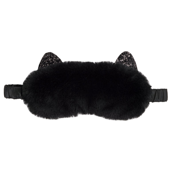 Plush Cat Sleeping Mask - Cat Black
