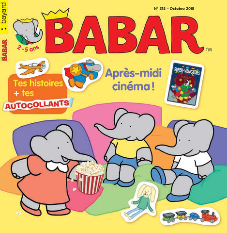 BABAR NO 315 - OCTOBRE 2018