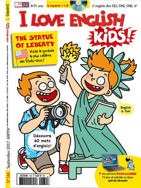 I LOVE ENGLISH FOR KIDS NO 186 - SEPTEMBRE 2017