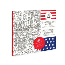 USA Coloring Poster by OMY