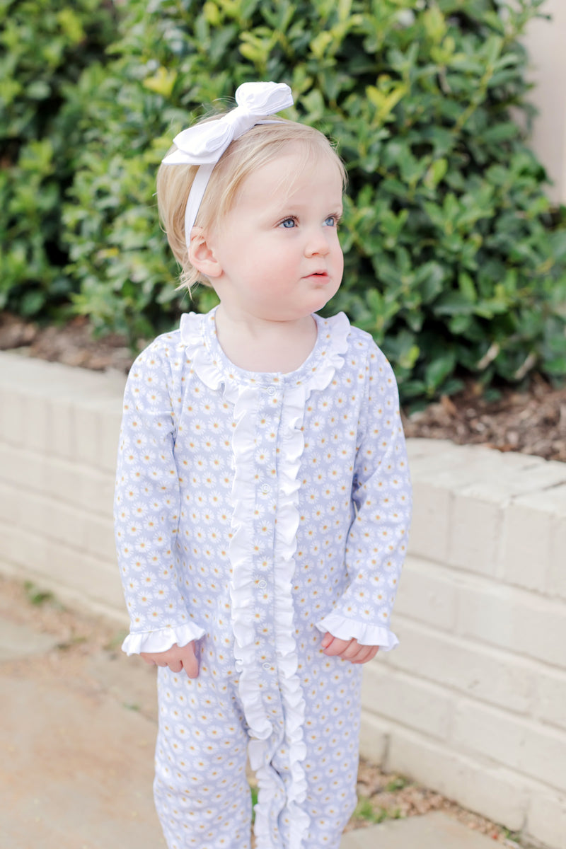 Grey Girls' Pima Cotton Romper - Spring 2021