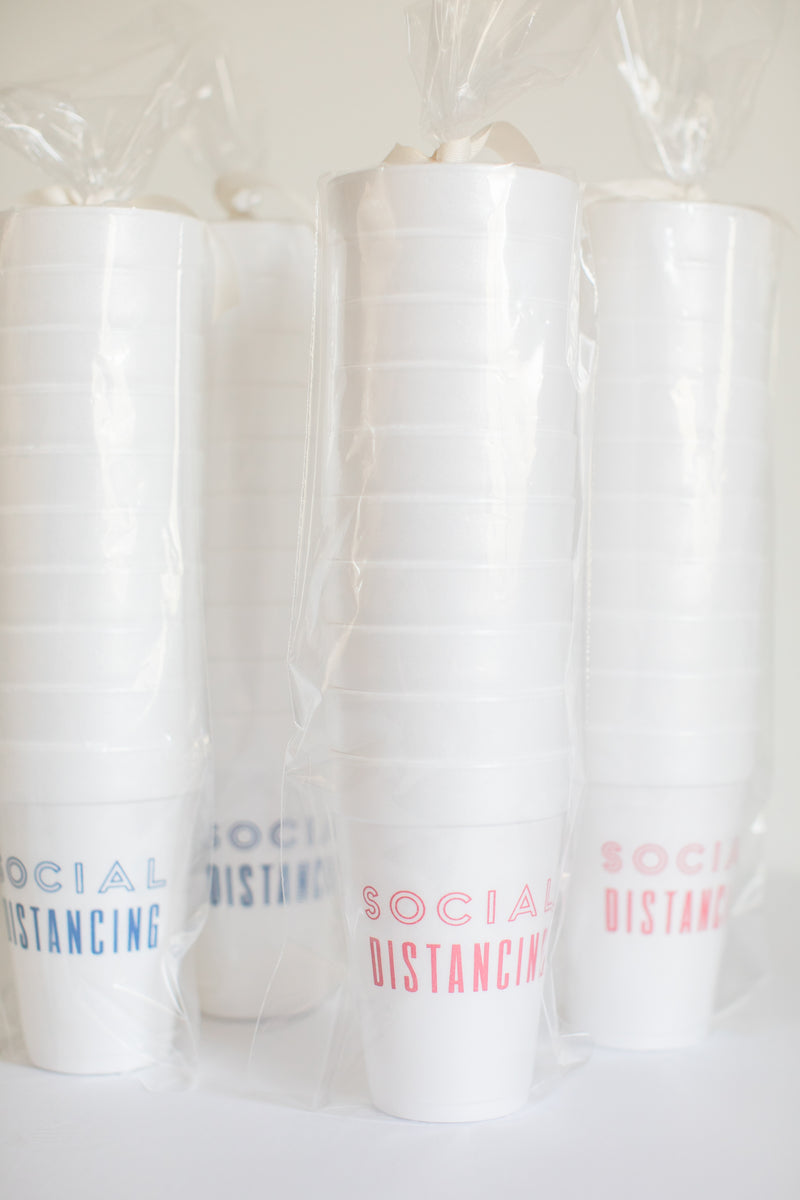 Social Distancing Styrofoam Cups - Set of 10 - $14