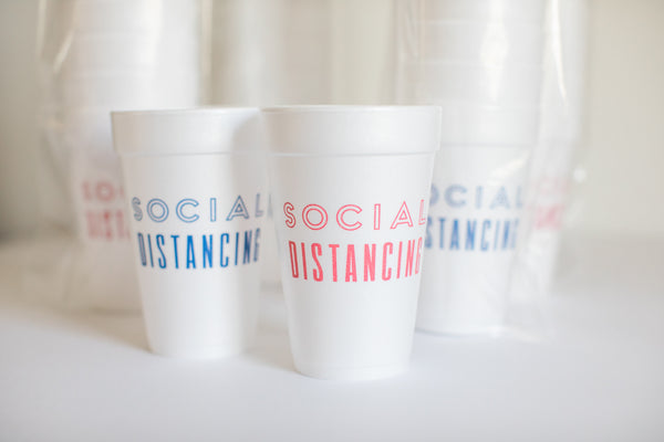 Fort 52 - Social Distancing Styrofoam Cups - Set of 10