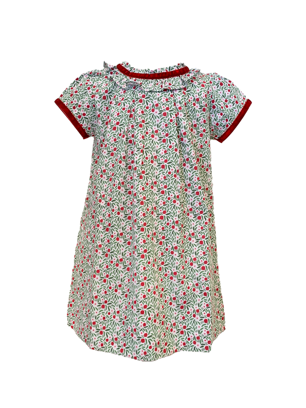 SALE Charlotte Baby Shortsleeve Woven Dress and Bloomer Set