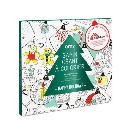 Holiday Giant Coloring Poster with markers by OMY