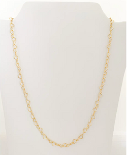 Little Hearts Necklace Gold by M Donohue Collection
