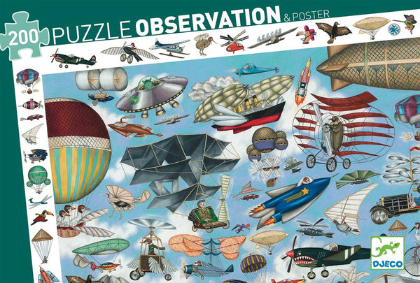 Observation Puzzles by Djeco - 200 Pieces