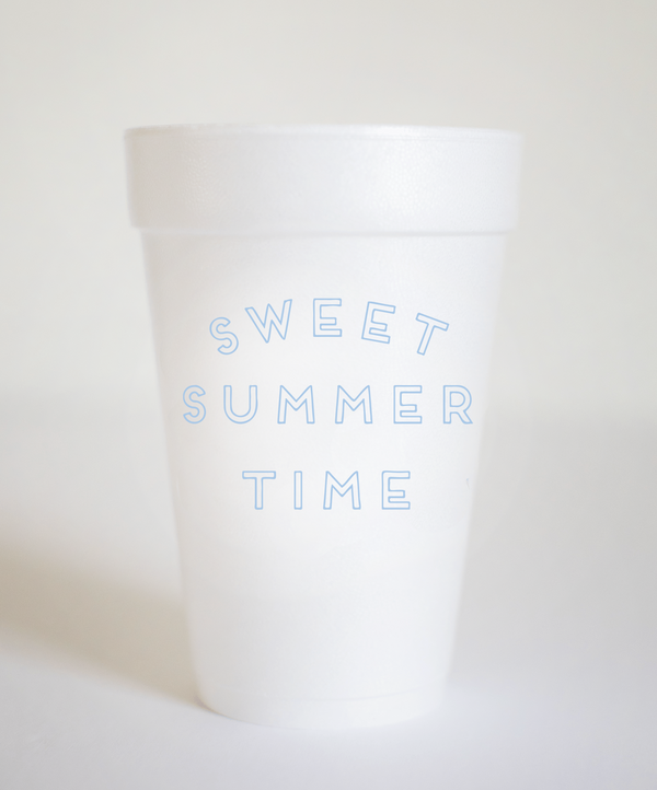 Fort52 Sweet Summer Time Styrofoam Cups - Set of 10 - $14