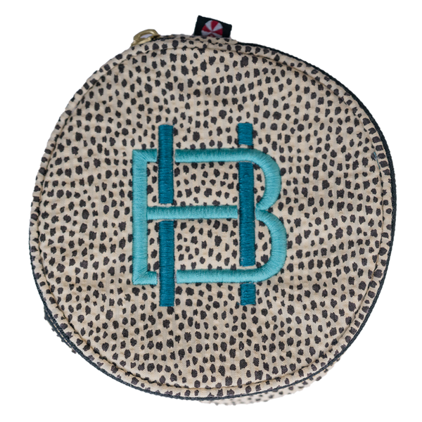 Gift Shop: Cheetah Oh Mint Button Bag with 2 Initial Monogram