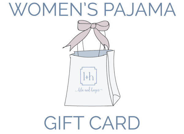 Women's Pajama Gift Card
