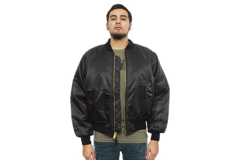 ROTHCO MA-1 Flight BOMBER Jacket - BLACK