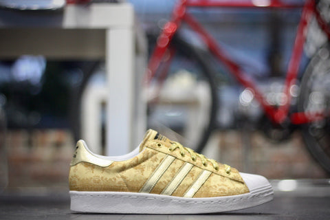 "ADIDAS SUPERSTAR 80'S CNY ""YEAR OF THE HORSE GOLD"" D65867"