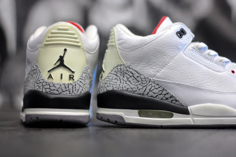 "AIR JORDAN RETRO 3 ""WHITE CEMENT"" 2003 136064-102"