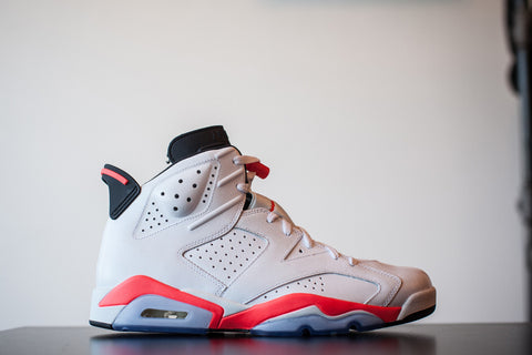 "AIR JORDAN RETRO 6 ""WHITE INFRARED"" 2014 384664 123"