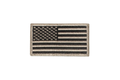 ROTHCO US FLAG PATCH WITH VELCRO HOOK BACK - KHAKI