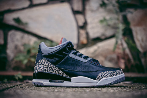 "AIR JORDAN RETRO 3 ""BLACK CEMENT"" 136064 010 2011"