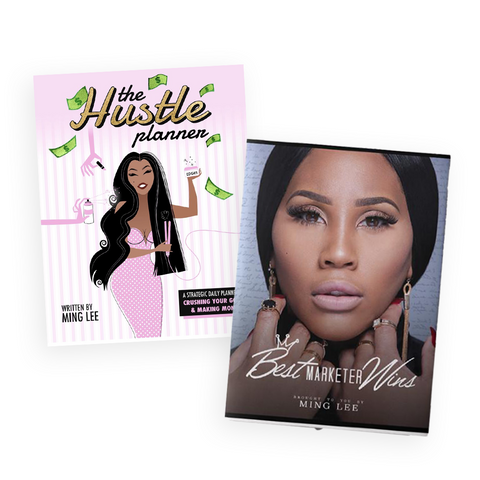 BOOK BUNDLE DEAL: Best Marketer Wins + The Hustle Planner - Snob Life