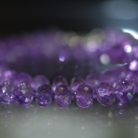 Rich Amethyst faceted beads